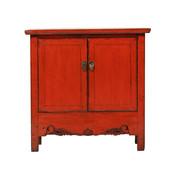 Yajutang Antike chinesische Kommode 2 Türen rot