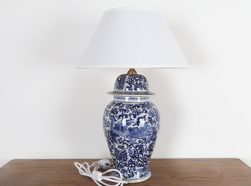 Yajutang Porcelain vase lamp with phoenix