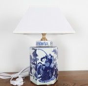 Yajutang Porcelain vase lamp with painting