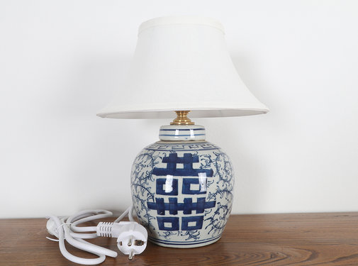 Yajutang Porcelain vase lamp with double luck