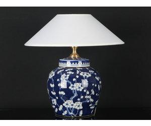 Chinesische Vasenleuchte mit Pflaumenblüte Vase blau #A-LEU-LA06