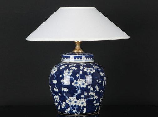 Yajutang Porcelain vase lamp with plum blossom