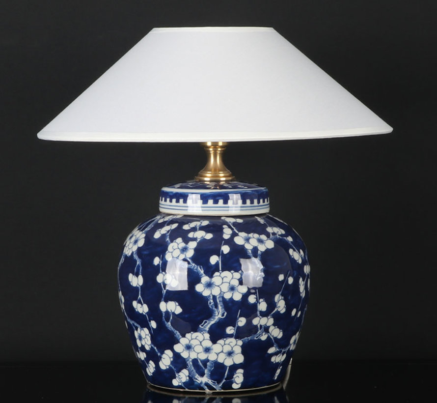 Chinesische Vasenleuchte mit Pflaumenblüte Vase blau