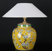 Yajutang Porcelain vase lamp with plum blossom