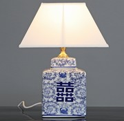 Yajutang Porcelain vase lamp & double happiness