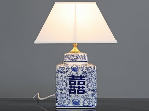 Yajutang Porcelain vase lamp & double happiness