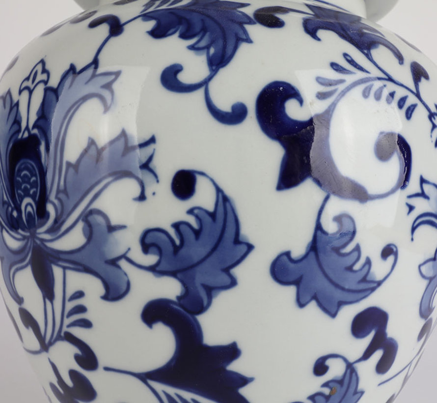 Chinese porcelain lidded vase 37 cm high Ø 18cm