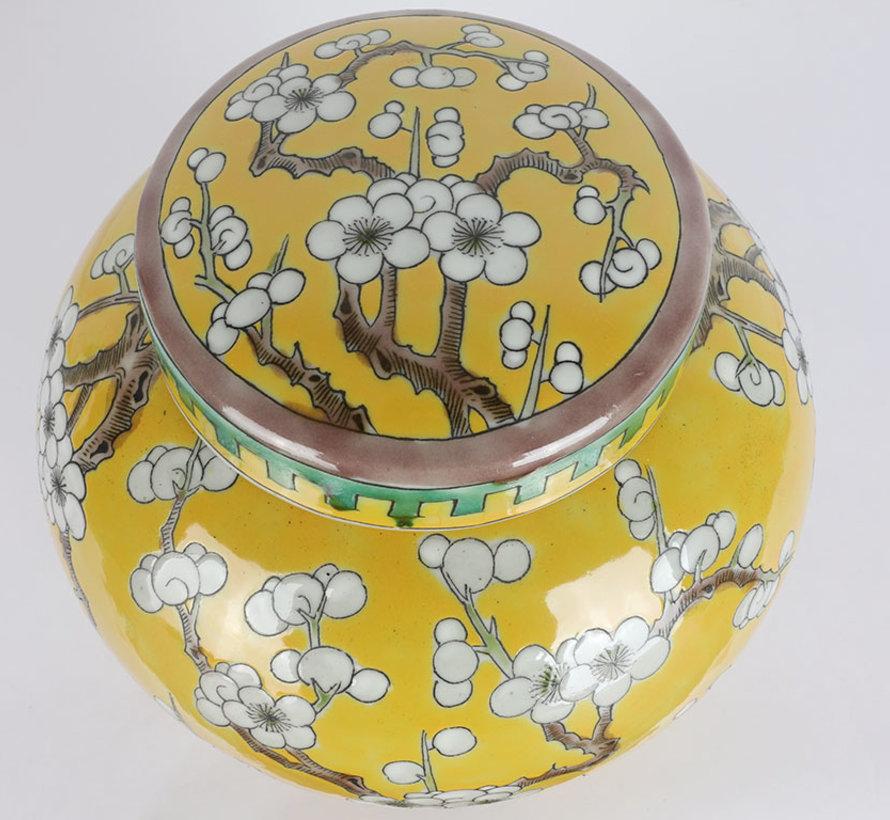 Chinese porcelain lidded vase 20 cm high Ø 18