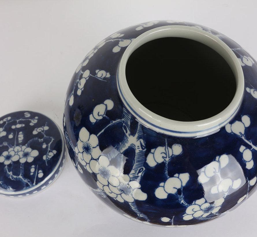 Chinesische Porzellan Deckelvase  20cm hoch Ø 18