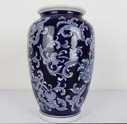 Yajutang Chinesische Porzellan Deckelvase Blumen