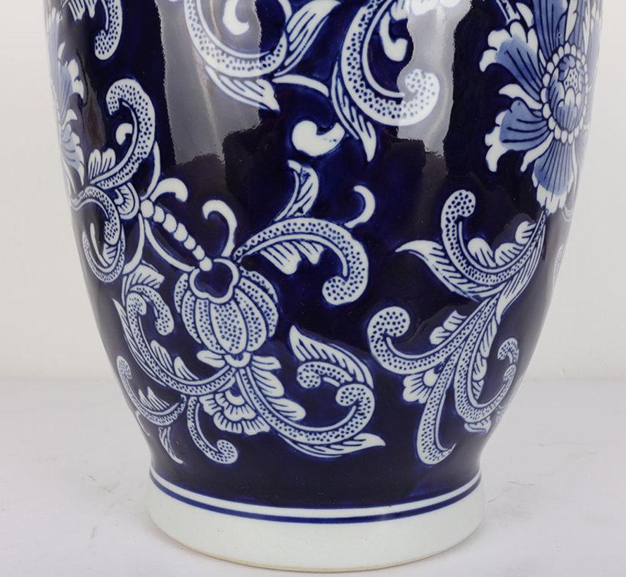 Chinese porcelain lidded vase 30 cm high Ø 20cm