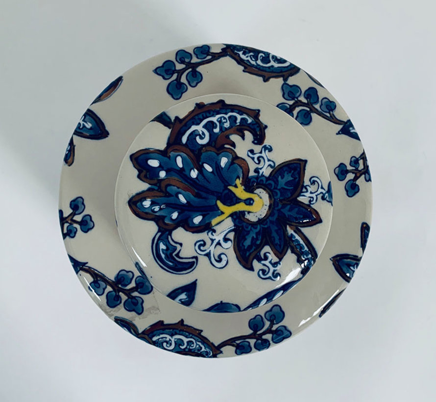 Chinesische Porzellan Deckelvase  22 cm hoch Ø 18cm