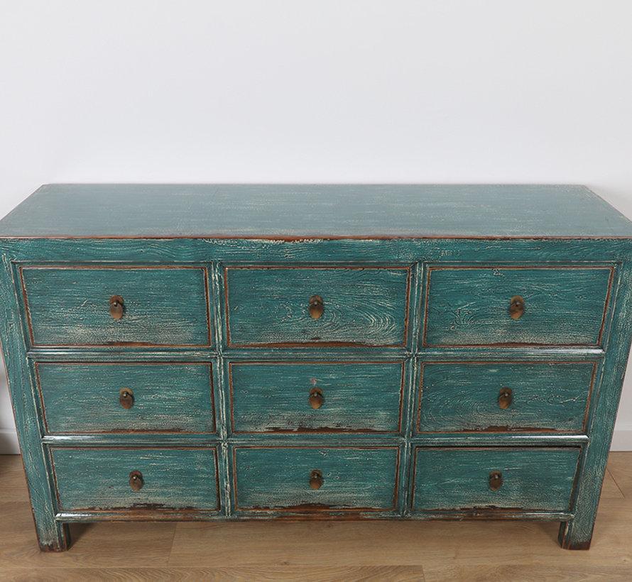 Chinese dresser sideboard 9Schubladen turquoise