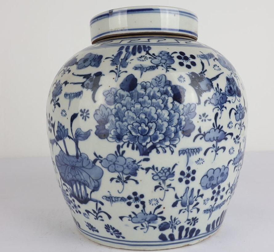Chinesische Porzellan Deckelvase  26 cm hoch Ø 24cm