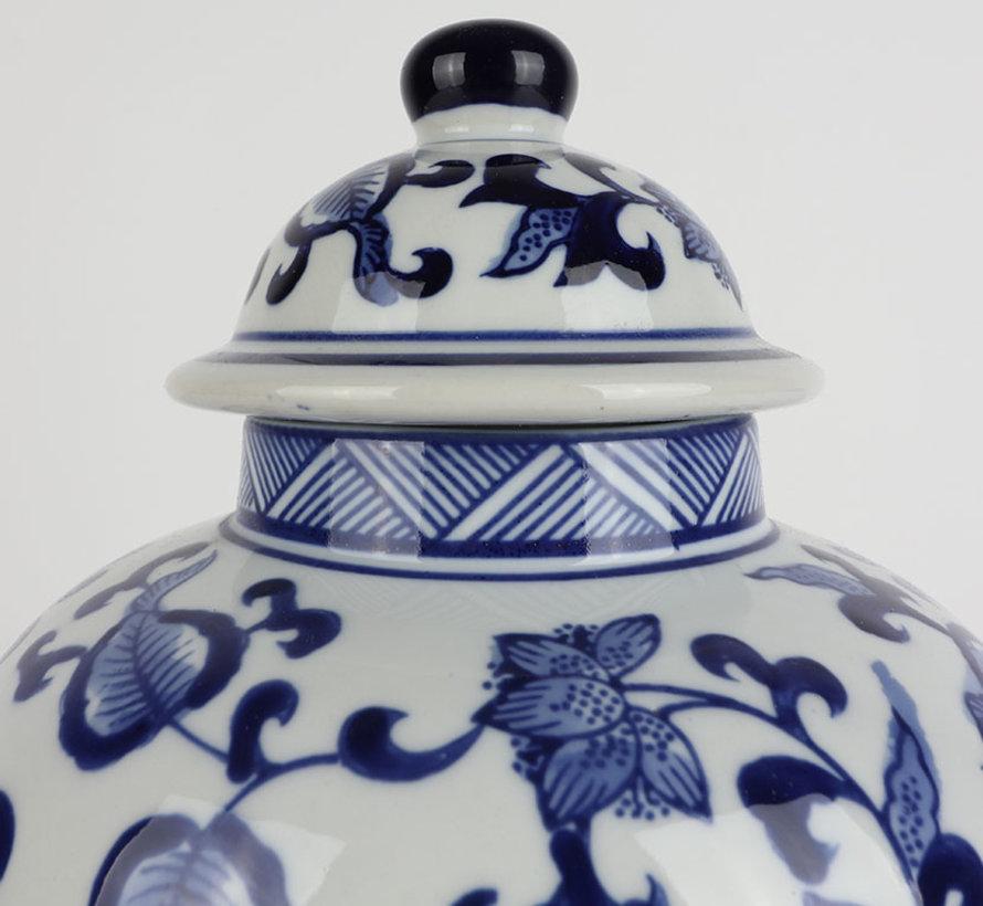 Chinese porcelain lidded vase 27 cm high Ø 17cm