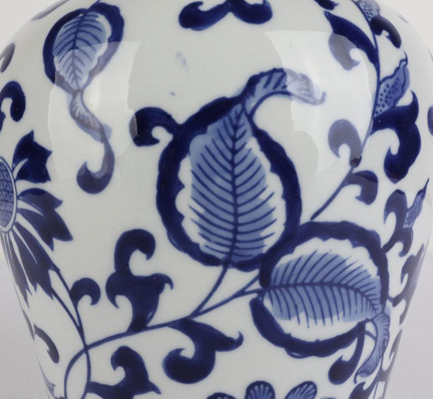 Chinesische Porzellan Deckelvase  27 cm hoch Ø 17cm
