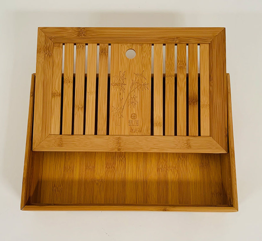 Chinese Bamboo Kung fu Tea Serving Tray for Tea Sets