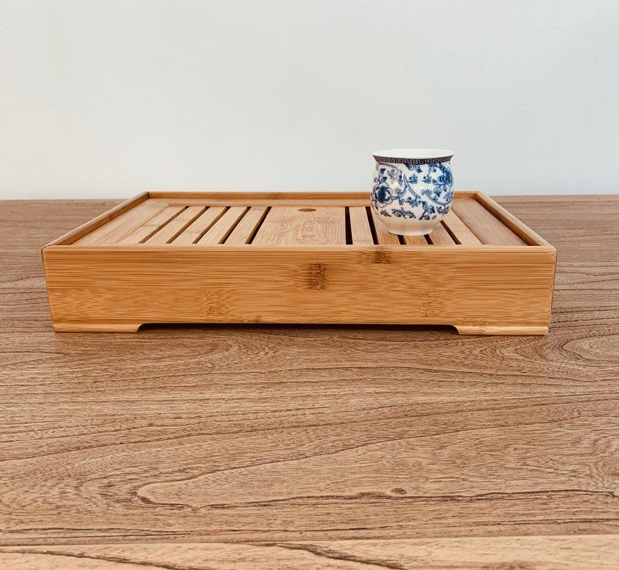 Chinesischer Bambus Kong fu Tee Serviertablett für Tee-sets