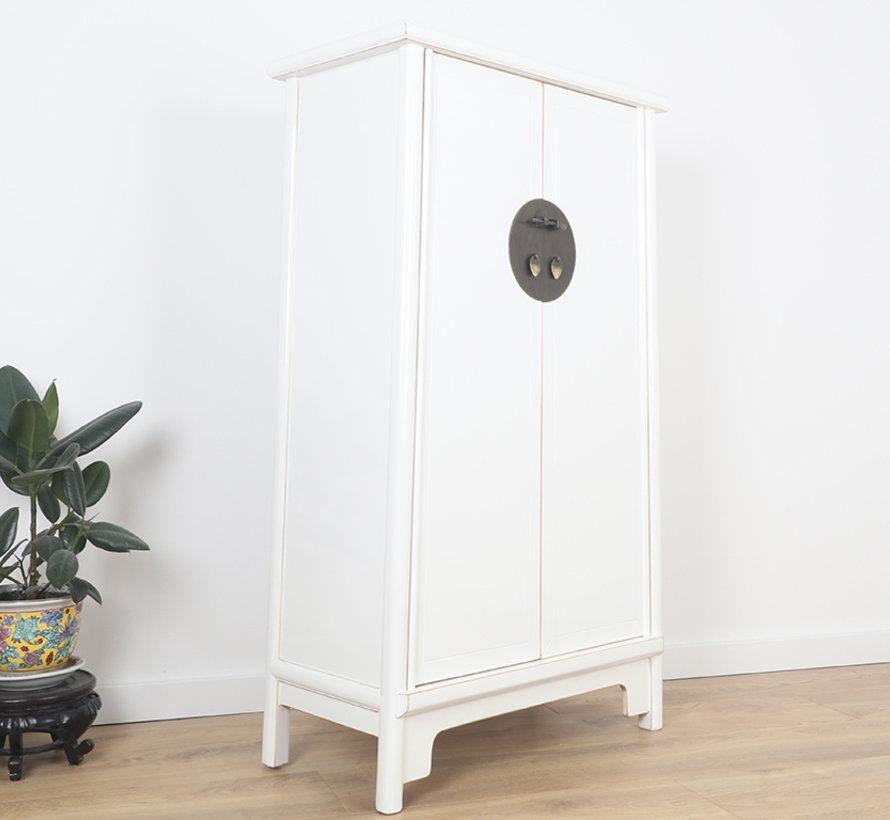 Chinese wedding cabinet 2 doors white
