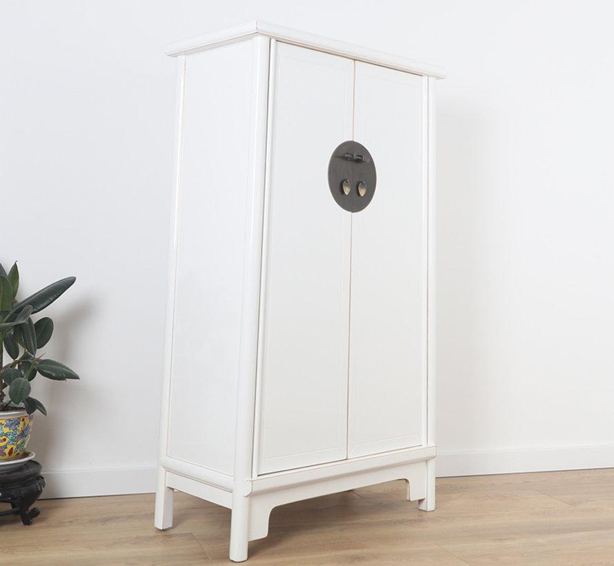 Chinesischer Hochzeitschrank Schrank 2 Türen weiß