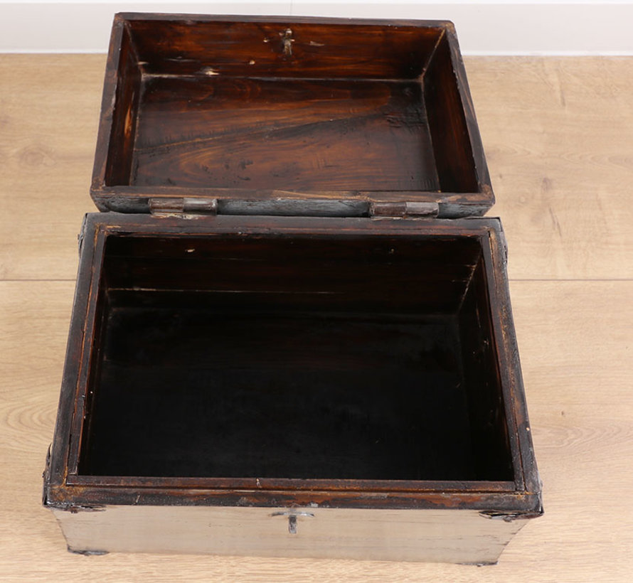 Antique Chinese chest gray