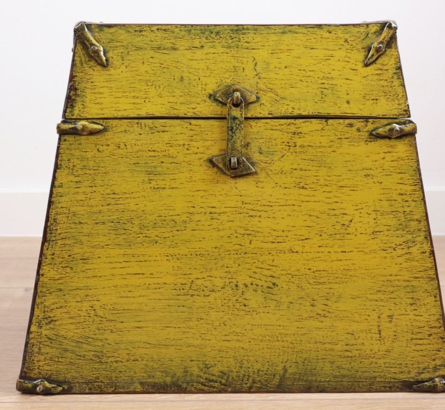 Antique Chinese chest yellow