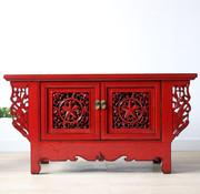 Yajutang Chinese lowboard solid wood red