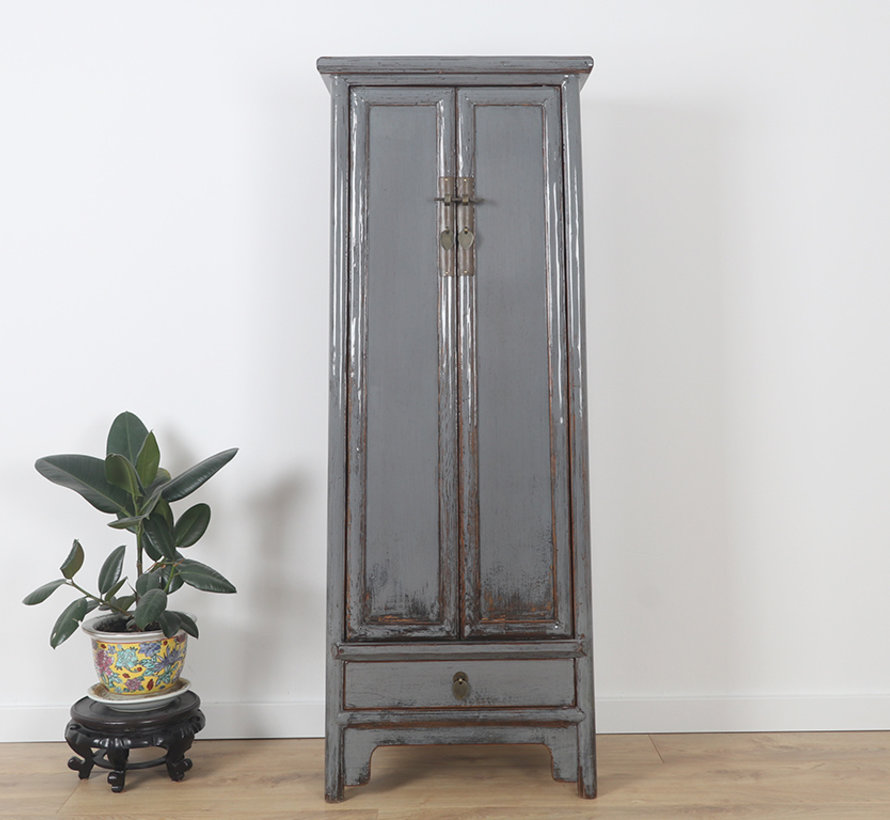 Chinese wedding cabinet solid wood light grey