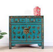 Yajutang chest hand-painted butterflies turquoise