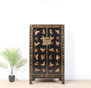 Yajutang chest hand-painted butterflies black