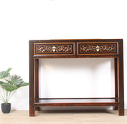 Yajutang Solid turquoise console table brown