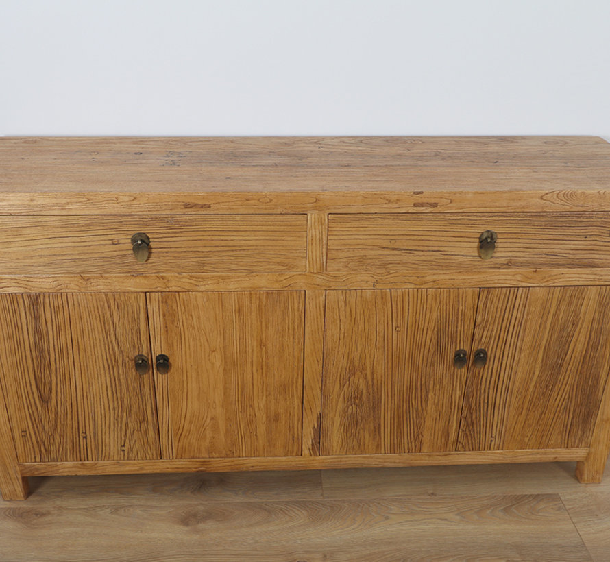 Chinese sideboard TV table chest of 4 doors natural