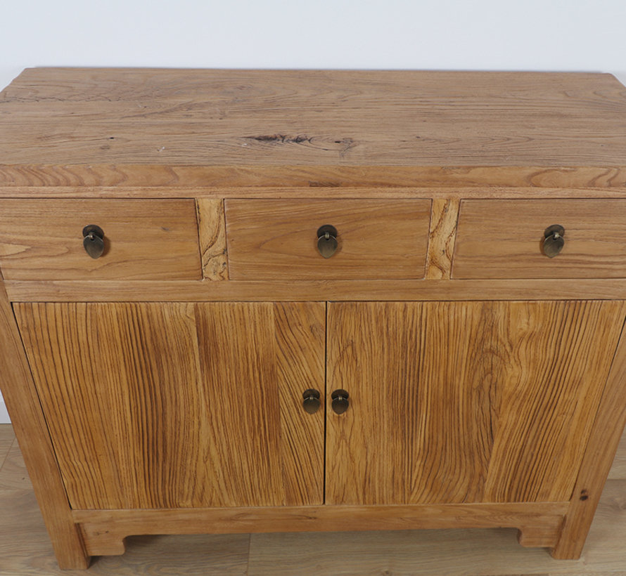 Chinese sideboard TV table chest of 2 doors natural