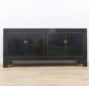 Yajutang chinesisches Sideboard 4 Türen schwarz