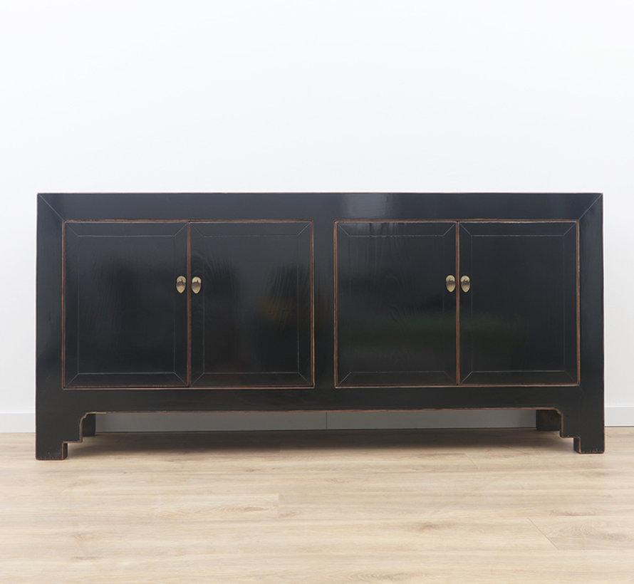 chinesisches Sideboard Fernsehtisch Kommode 4 Türen schwarz