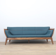 Yajutang 3-Sitzer-Sofa in Leder mit massivholz,238 cm