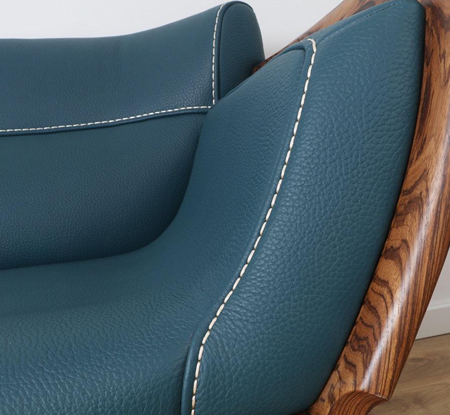 3-Sitzer-Sofa in Leder mit massivholz,238 cm