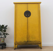 Yajutang Chinese wedding cabinet white yellow