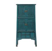 Yajutang antik Bambus Küchenschrank blau