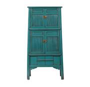 Yajutang antique bamboo kitchen cabinet turquoise