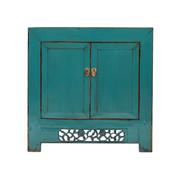 Yajutang Antique China cabinet 2 doors turquoise