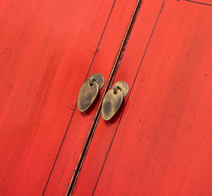 antiker chinesischer Hochzeitsschrank Schrank rot