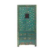 Yajutang antique chinese wedding cabinet blue