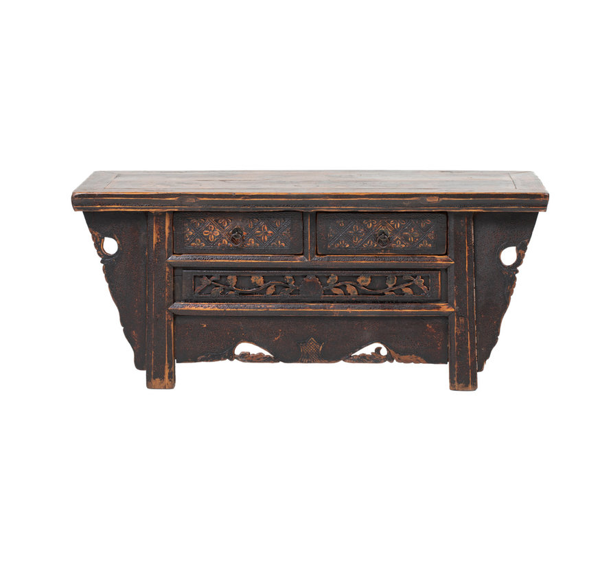Antique sideboard lowboard chinese asia asian brown