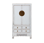 Yajutang antique chinese wedding cabinet white