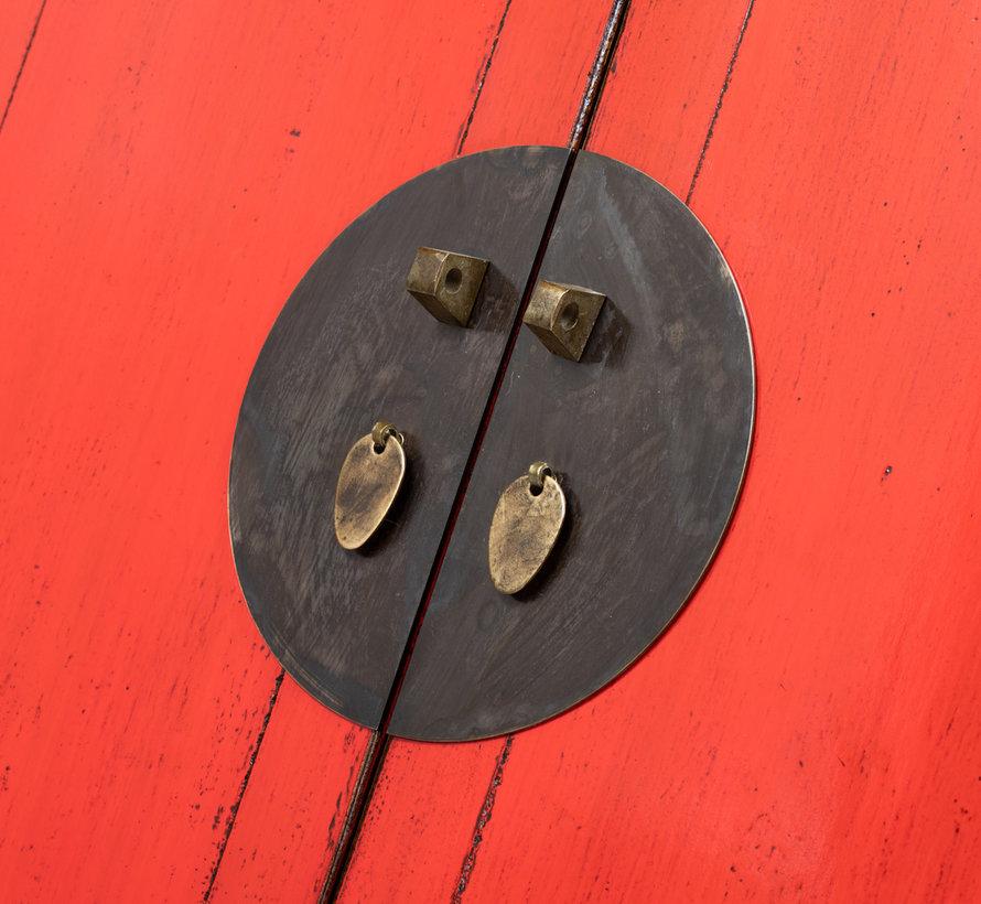 antiker chinesischer Hochzeitsschrank Schrank rot - Copy