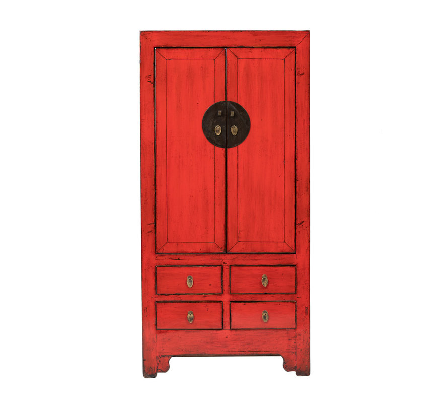 antique chinese wedding cabinet cabinet red - Copy