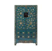 Yajutang antik china Hochzeitsschrank blau