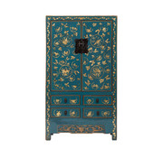 Yajutang antique  wedding cabinet blue
