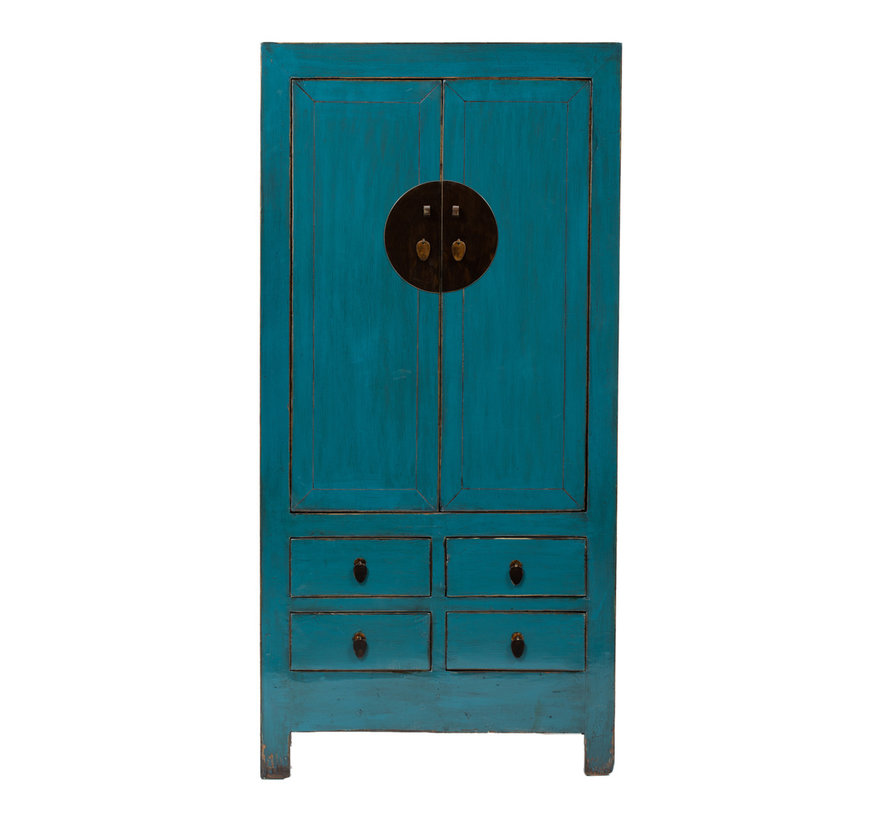 antique chinese wedding cabinet cabinet blue